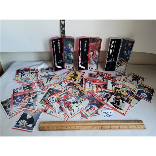 3 McDonalds NHL Star Sticks 2006-2007. Assorted Hockey cards