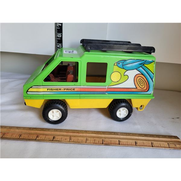 Vintage 1972 Fisher Price Van made in NY  USA