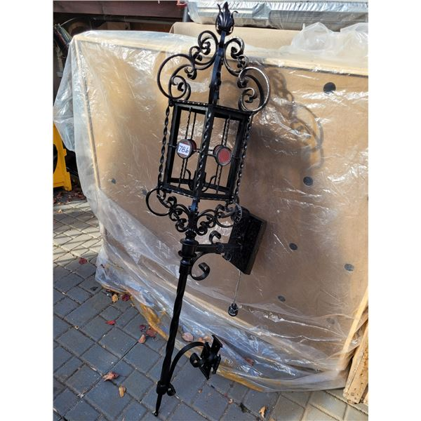 Vintage ornate carriage wall mount light. Wired and refinished.