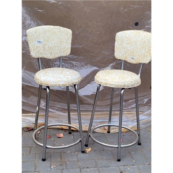 "Mid century 24"" stools"