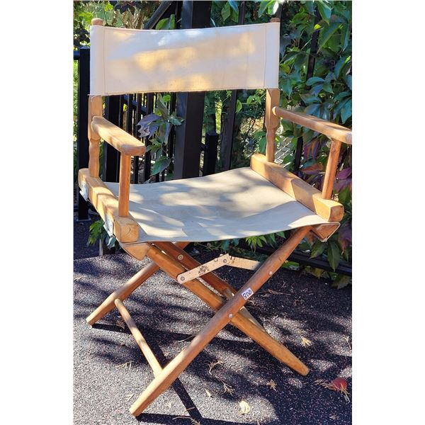 Vintage wood & canvas folding (director style) chair.