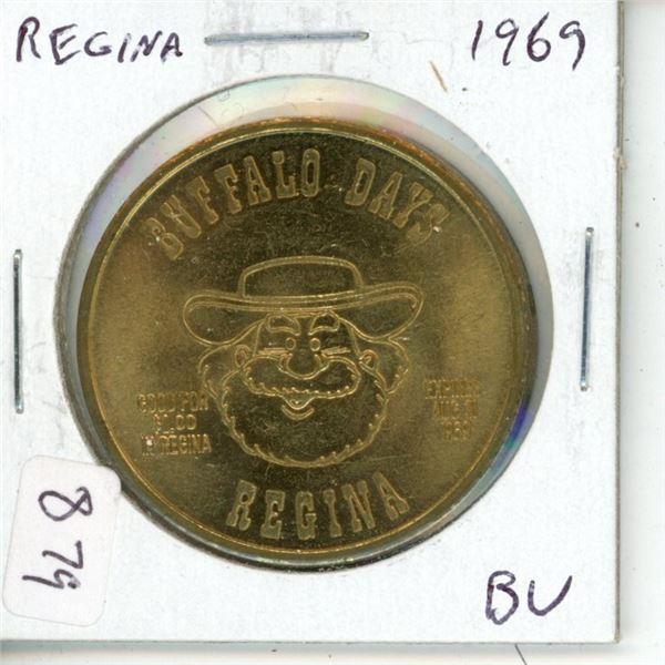 Regina. 1969 Buffalo Buck Trade Dollar depicting Pemmican Pete. BU.