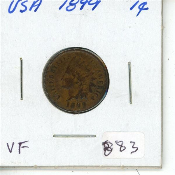 U.S. 1899 Indian Head Cent. VF-20.