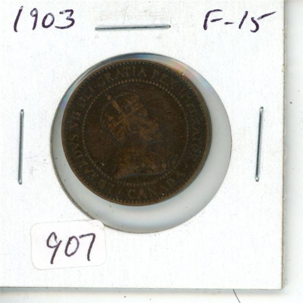 1903 Edward VII Large Cent. F-15.