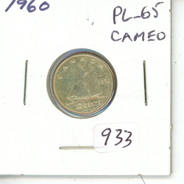 1960 Silver 10 Cents. Proof Like-65 Cameo.