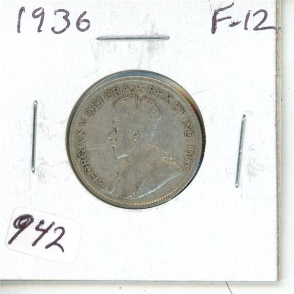 1936 George V Silver 25 Cents. The year George V died, and the same year that his two eldest sons (E