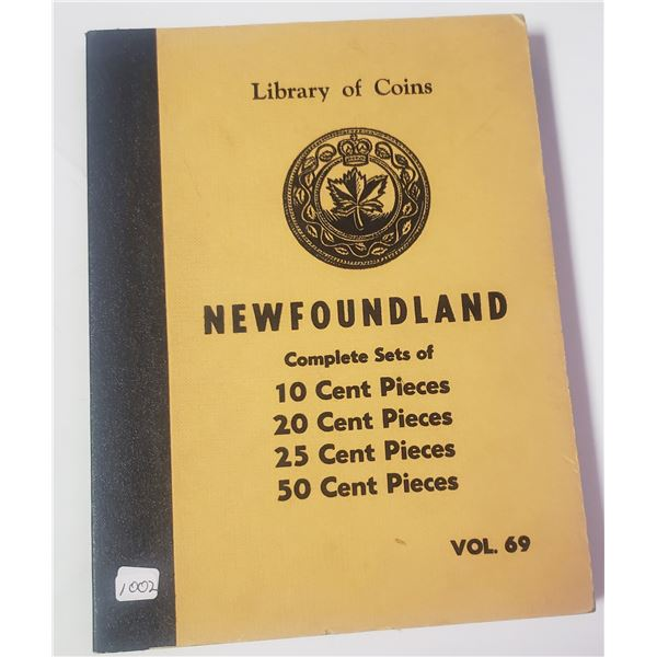 1959 Library of Coins: Newfoundland. Volume 69 Album includes room for Newfoundland 10 cents, 20 cen