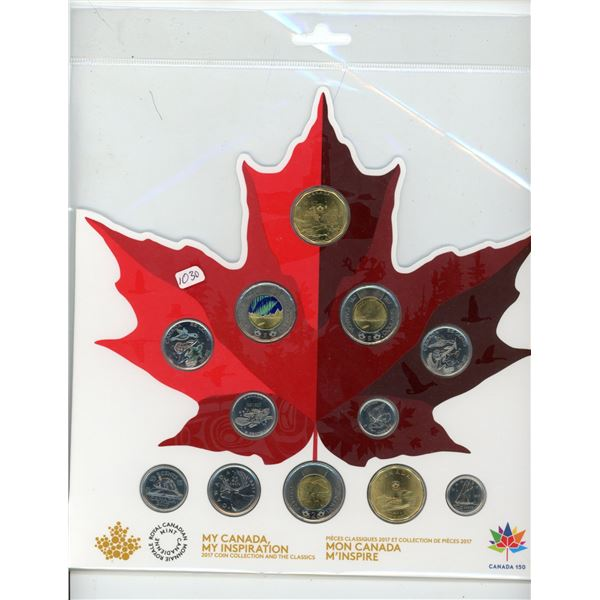 My Canada, My Inspiration 2017 Coin Collection.12-coin set issued on the 150th Anniversary of Canada