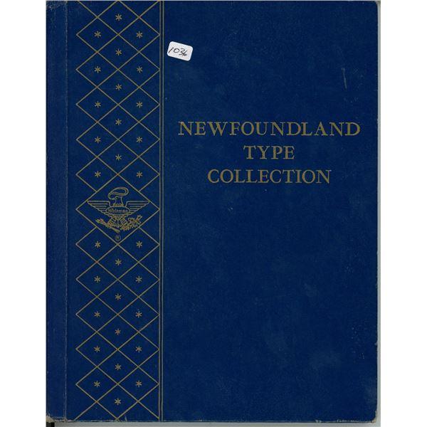 Newfoundland Type Collection Coin Album. Whitman Publishing. The famous Blue folder.