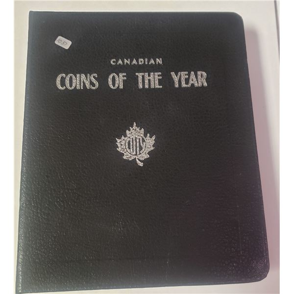 Canadian Coins of the Year (COTY) Club 3-ring binder for Proof Like and Mint sets dating from 1952 t