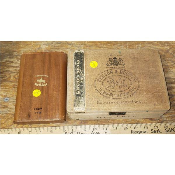Vintage cigar box B&H wooden cigar box Old gringo