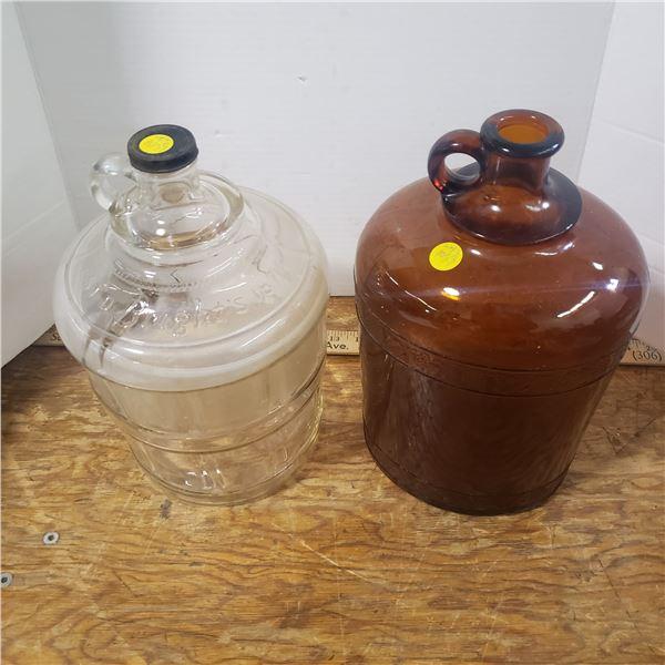 2 vintage gallon jugs