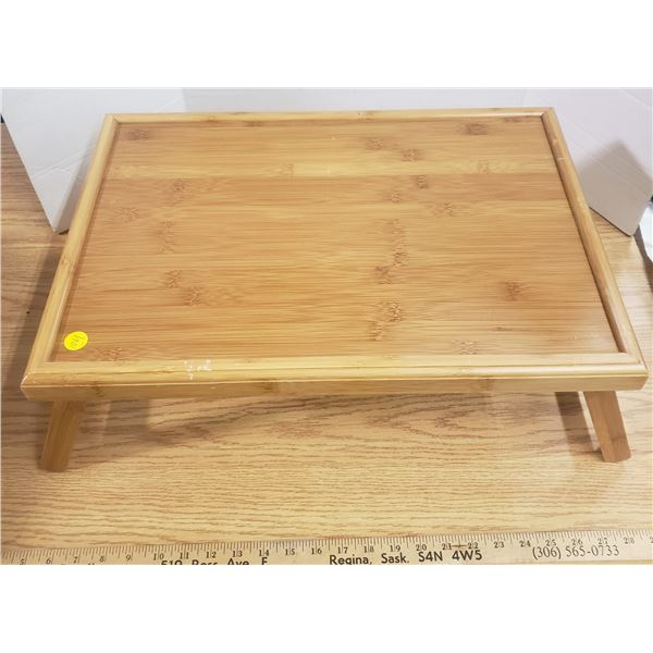 Bamboo lap table folding legs