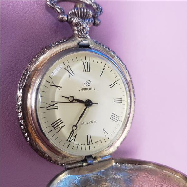 Pocket watch Churchill Hunting scene