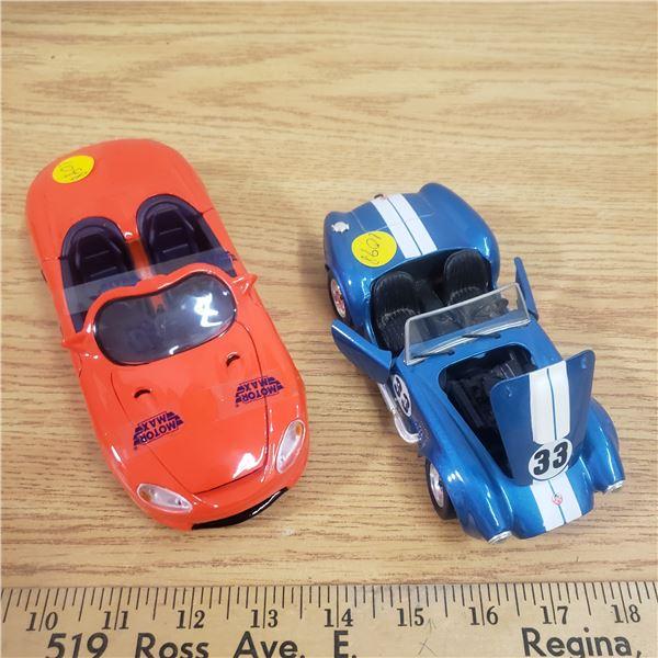 2 die cast cars 1/24 Ford Cobra, Mustang Mach III