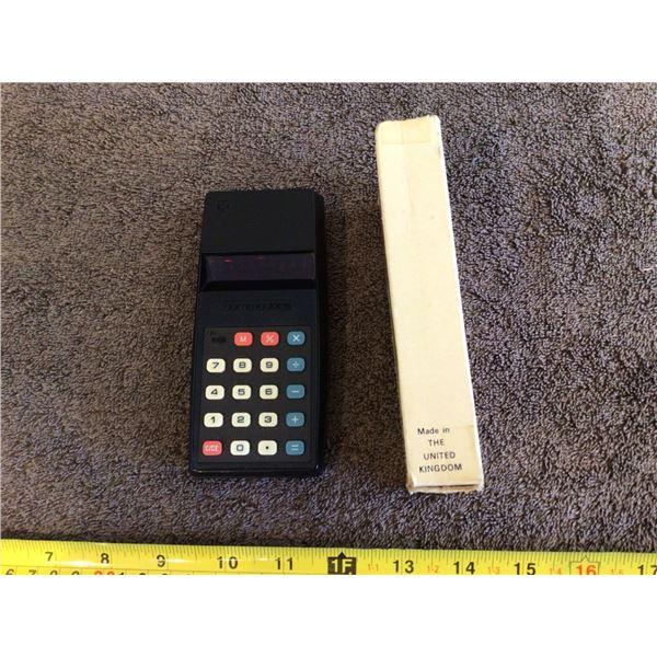 Vintage Commodore 796M calculator. Minute Man 76 series - black. In original box