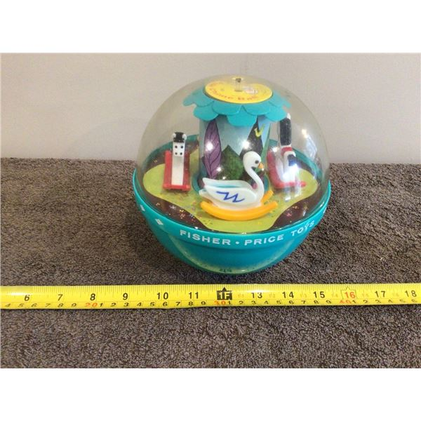 Vintage Fisher Price 1966 Roly Poly chime ball #165