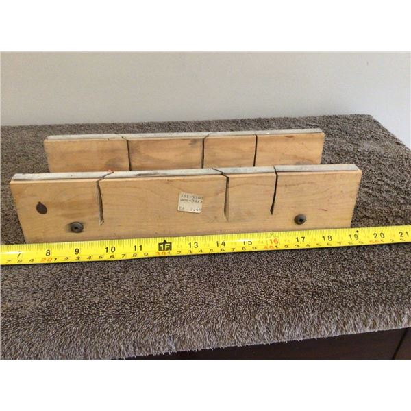 """Vintage 12"""" wood mitre box, made by Waterville Woodcraft, Waterville, Que."""