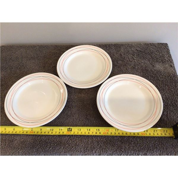 """Lot of 3 7"""" Oxford plates, 8830-1, made in Brazil"""