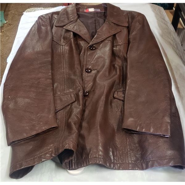 Men's leather jacket size 50 tall