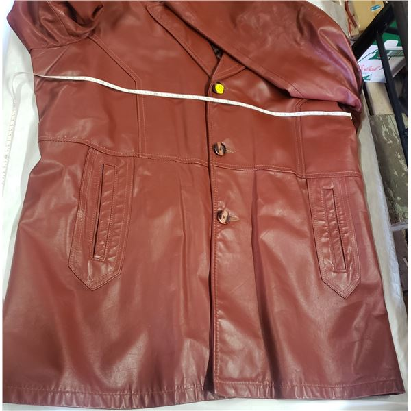 Men's leather jacket with liner size 48 tall