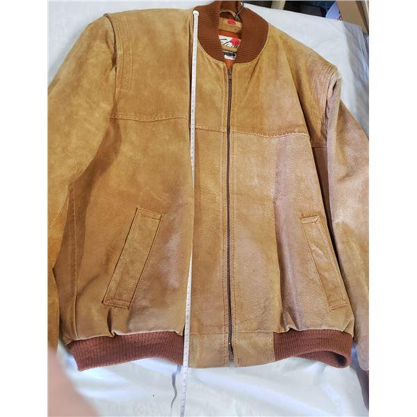 Men's suede bomber jacket size 46