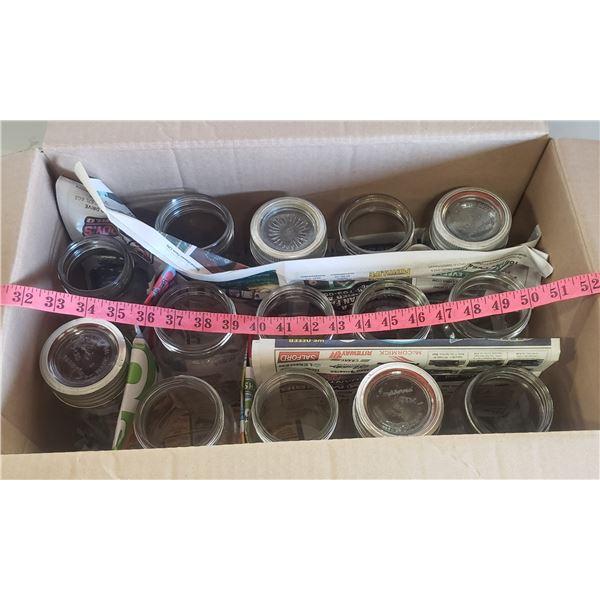 14 glass jars