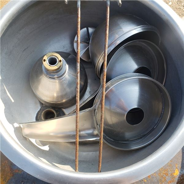 International 2-S stainless cream separator, bowl and parts