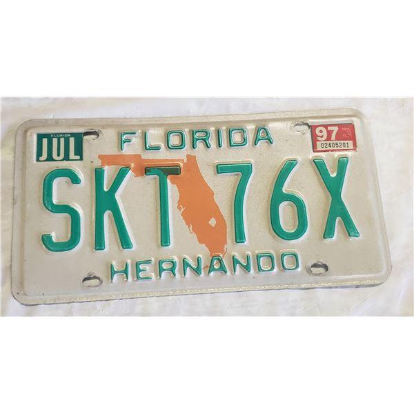 Florida license plate SKT 76X