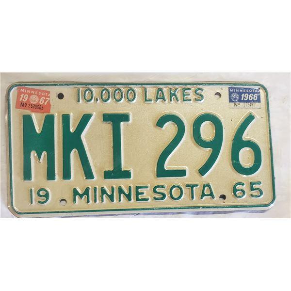 Minnesota license plate MK1 296
