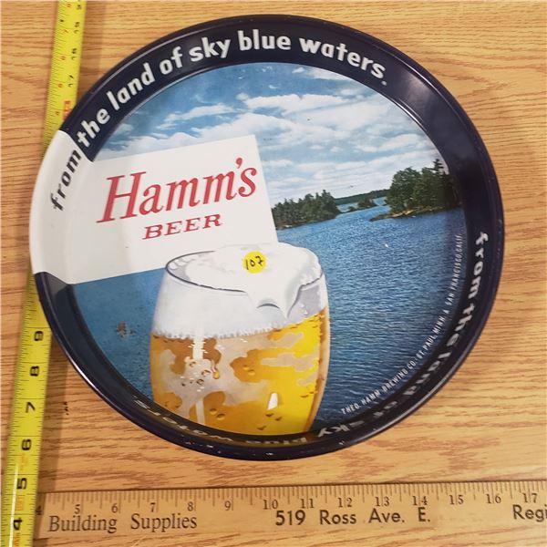 Vintage Hamms Tin Beer Tray