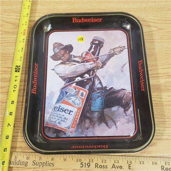 Vintage Budweiser Tin Tray