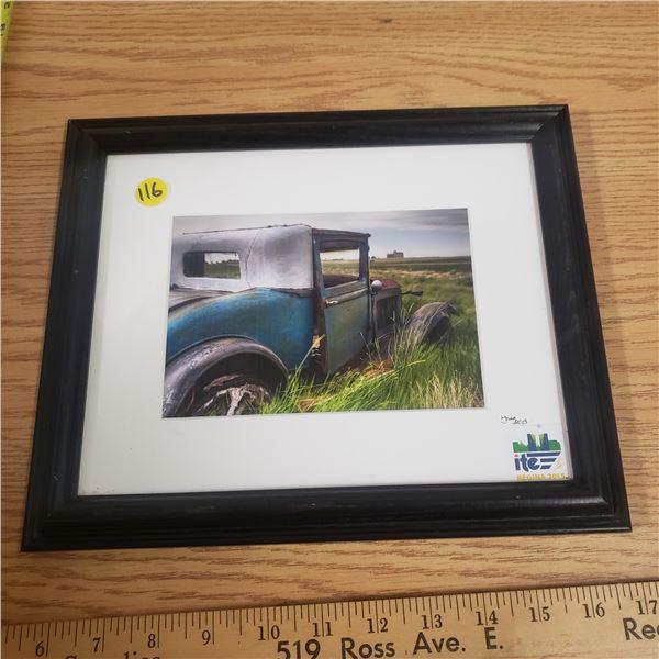 Framed Antique Auto Print