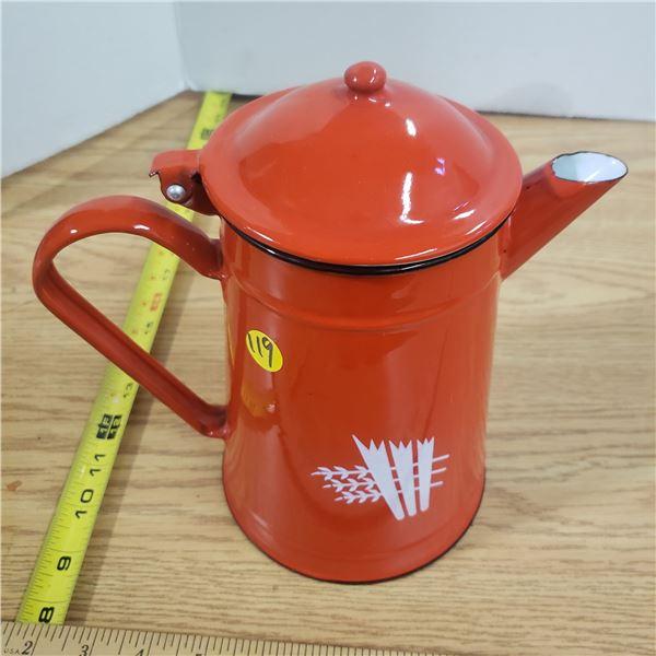 Red Enamelware Kettle