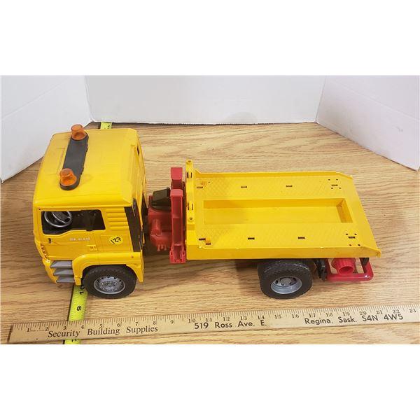 Plastic toy flat Deck Truck