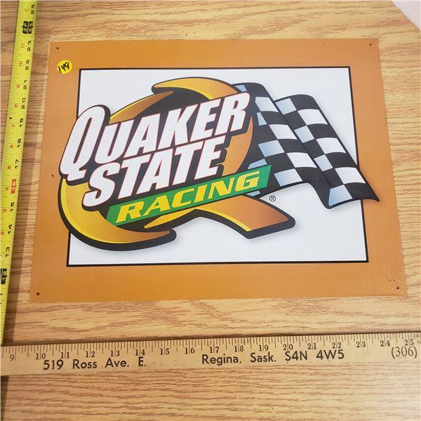 "18x12"" Quaker State Tin Sign"