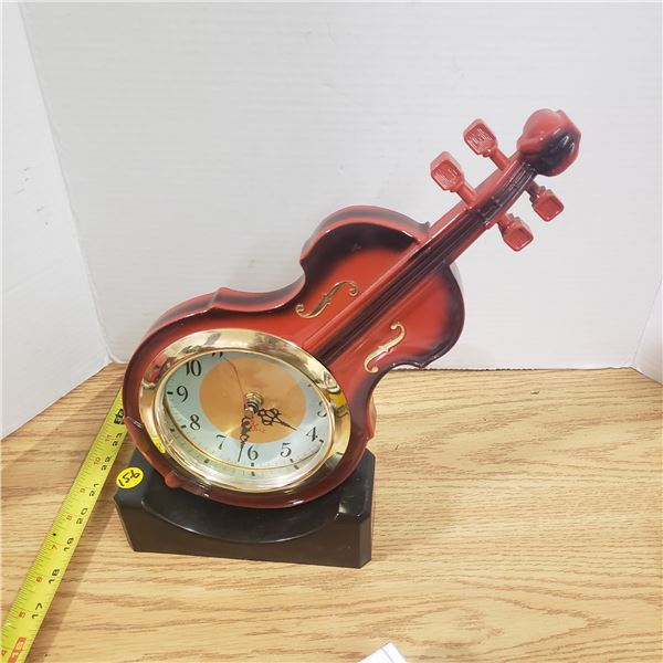 Violin or fiddle shaped Clock (battery) Decorative