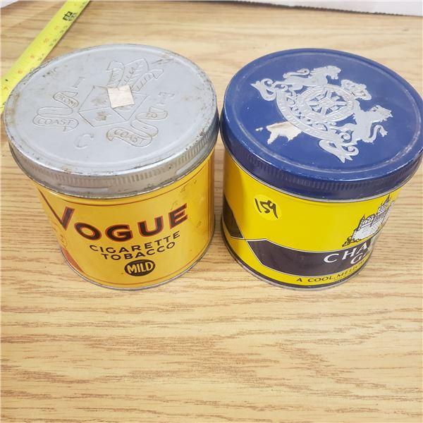 2x Vintage Tobacco Tins