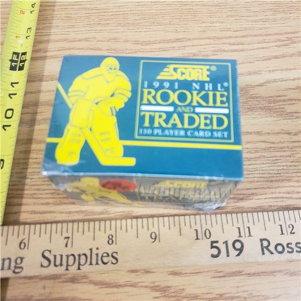 NIB sealed NHL hockey 1991 Rookie traded Card Set (110)