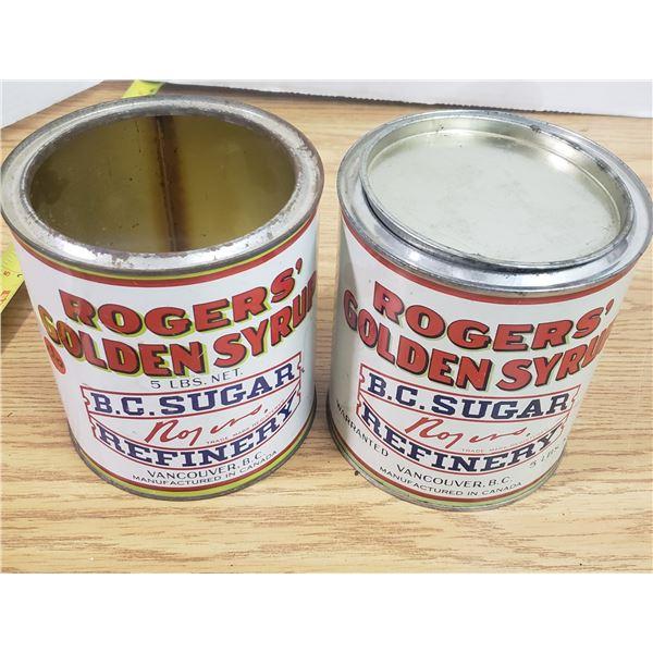 2 Rogers Sugar Tins