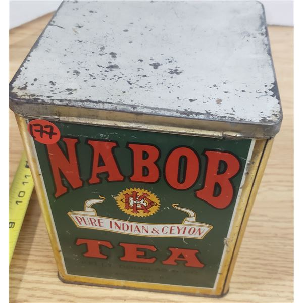 Nabob Tea Tin