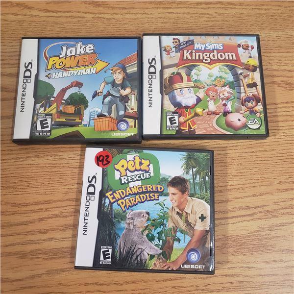 3x Nintendo DS Games