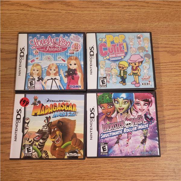 4x Nintendo DS Games