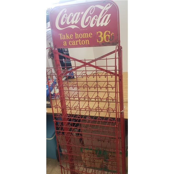 1950s coca cola fold out bottle rack