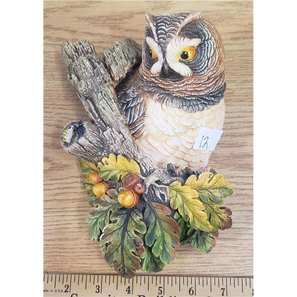 short eared owl wall plaque England