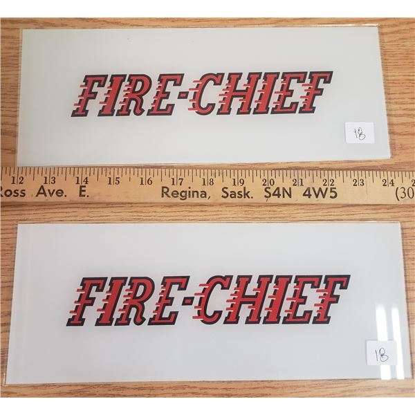 Texaco fire chief replacement glass plates