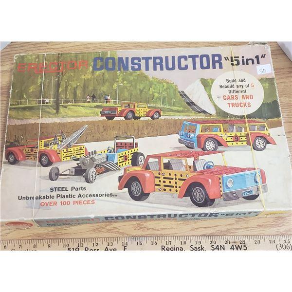 1950s Gilbert erector construct-a-car with box