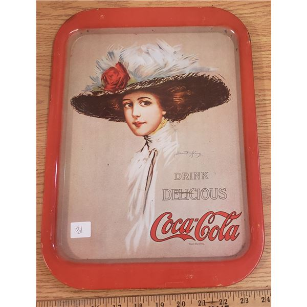 Coke Coca Cola tray Harriet King