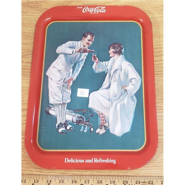 Coke Coca Cola tray Golf theme