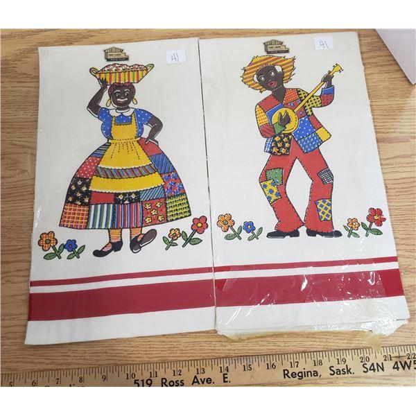 Black Americana towels original packaging